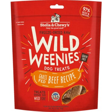 Stella & Chewy's Wild Weenies Grass-Fed Beef Freeze-Dried Dog Treats, 3.25 oz