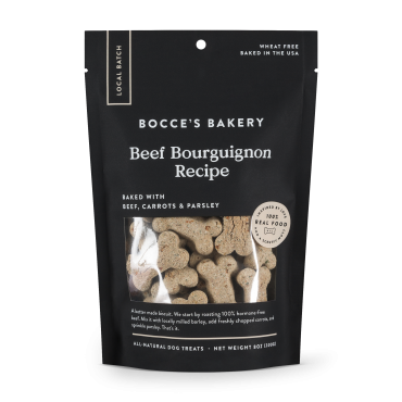 Bocce's Bakery Beef Bourguignon Biscuits Dog Treat, 8 oz