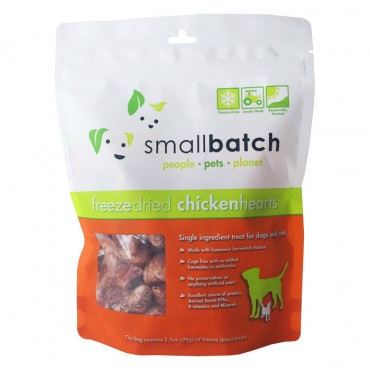 Smallbatch Chicken Hearts Freeze Dried Dog & Cat Treats, 3.5 oz