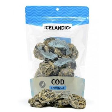 Icelandic+ Cod Skin Rolls Dog Treats, 3 oz