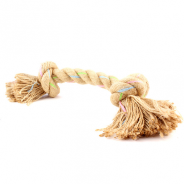 Beco Pets Eco-Friendly Jungle Double Knot Hemp Rope Dog Toy
