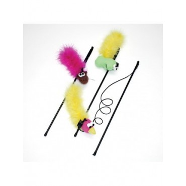 SPOT Feather Boa Wand Cat Toy