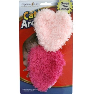 Imperial Cat Fuzzy Heart Duo Catnip Cat Toy