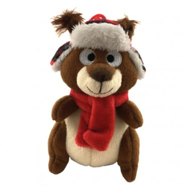 Lulubelles Holiday Power Plush Chester the Chipmunk Dog Toy