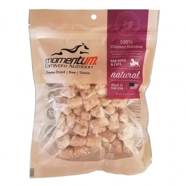 Momentum Carnivore Nutrition Freeze-Dried Chicken Nibblets Dog & Cat Treat
