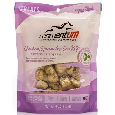 Momentum Carnivore Nutrition Freeze-Dried Chicken, Spinach & Sea Kelp Dog & Cat Treat