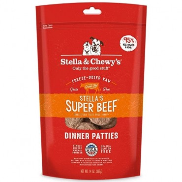 Stella & Chewy's Stella's Super Beef Freeze-Dried Dinner Patties Dog Food
