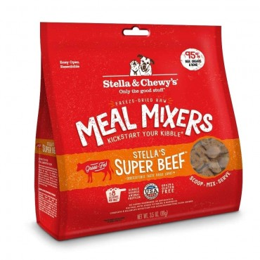 Stella & Chewy's Stella's Super Beef Freeze Dried Meal Mixers Dog Food, 8 oz