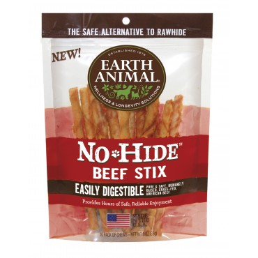 Earth Animal No-Hide Beef Stix Dog Treat, 10 Pack
