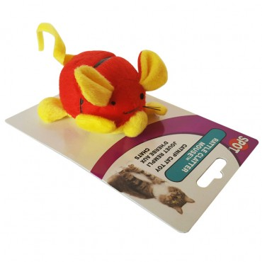 Spot Rattle Clatter Mouse with Catnip Cat Toy
