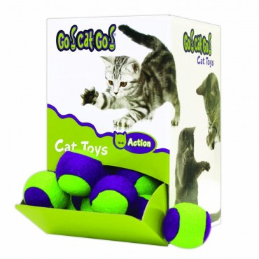 Cosmic Catnip Fuzzy Tennis Balls Cat Toy, 1 Ball