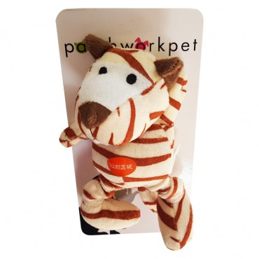 PatchworkPet Mini Wild Tiger Plush Dog Toy
