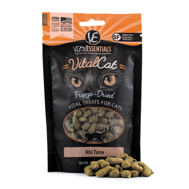 Vital Essentials Vital Cat Freeze-Dried Ahi Tuna Cat Treats, 1.1 oz