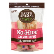Earth Animal No-Hide Salmon Chews Dog Treat, 2 Pack