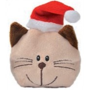 Bavarian Cat Holiday Cat Face with Santa Hat Cat Toy