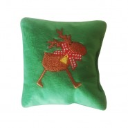 Bavarian Cat Holiday Rudolph on Green Pillow Cat Toy