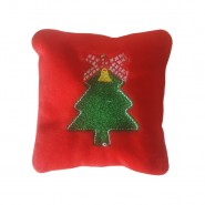 Bavarian Cat Holiday Jingle Bells Red Pillow Cat Toy