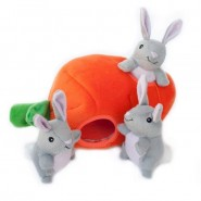 ZippyPaws Bunny n Carrot Burrow Dog Toy