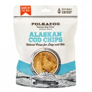 PolkaDog Alaskan Cod Chips Crunchy Dehydrated Dog & Cat Treats, 3.5 oz