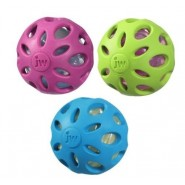 JW Pet Crackle Head Ball Dog Toy