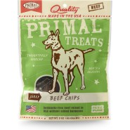 Primal Jerky Beef Chips Dog Treats, 3 oz