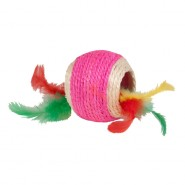 Chomper Kylie's Brites Jute Ball With Feathers Cat Toy