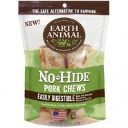Earth Animal No-Hide Pork Chews Dog Treat, 2 Pack