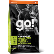 Petcurean Go! Solutions Carnivore Chicken, Turkey & Duck Grain-Free Puppy Recipe Dry Dog Food
