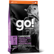 Petcurean Go! Solutions Carnivore Chicken, Turkey & Duck Grain-Free Senior Recipe Dry Dog Food