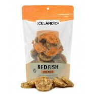 Icelandic+ Redfish Skin Rolls Dog Treats, 3 oz