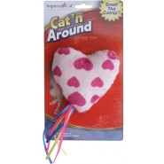 Ribbon Heart Catnip Cat Toy