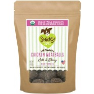 Snicky Snaks Organic Chicken Meatballs Soft & Chewy Dog Treat, 5.5 oz