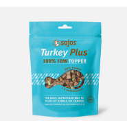 Sojos Turkey Plus 100% Raw Freeze-Dried Topper Dog Food, 4 oz