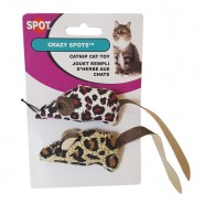 Crazy Spot Mice Catnip Cat Toy, 2 Pack