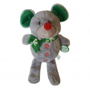 Spot Holiday Squeaker Plush Dog Toy, Mouse