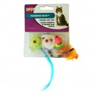 Spot Rainbow Mice Catnip Cat Toy, 3 Pack