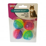 Spot Shimmer Balls Cat Toy, 4 Pack