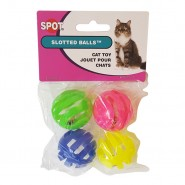 Slotted Balls Cat Toy, 4 Pack