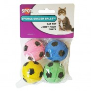 Spot Sponge Soccer Balls Cat Toy, 4 Pack