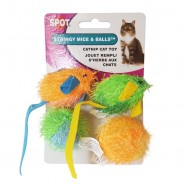 Spot Stringy Mice & Balls Catnip Cat Toy, 4 Pack