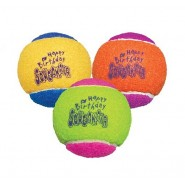KONG AirDog SqueakAir 'Happy Birthday' Tennis Ball Dog Toy,  3 Pack - MEDIUM