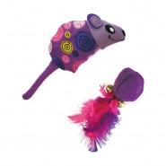KONG Tropics Mouse & Ball Cat Toy, 2 Pack