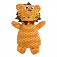 PatchworkPet TuffPuff Lion Dog Toy, 6 inch