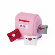 ZippyPaws Zippy Burrow Valentine's Mailbox and Love Letters Dog Toy