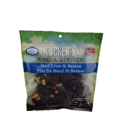 Tucker's Wag-A-Rounds Beef Liver & Banana Dog Treats, 6 oz