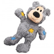 KONG Wild Knots Grey Bear Plush Dog Toy