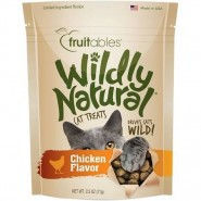 Fruitables Wildly Natural Chicken Flavor Cat Treats, 2.5 oz