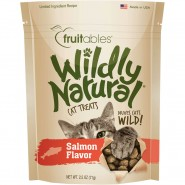 Fruitables Wildly Natural Salmon Flavor Cat Treats, 2.5 oz