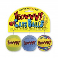 Yeowww! Catnip My Cats Balls Cat Toy, 3 Pack