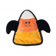 ZippyPaws Halloween Z-Stitch Candy Corn Bat Dog Toy